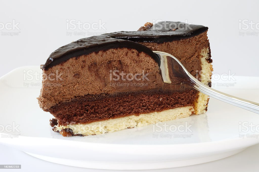 Opera. French Chocolate Mousse Cake royalty-free stock photo
