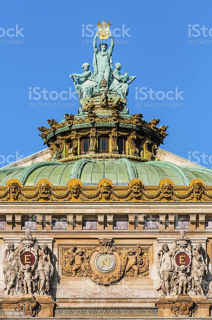 opera Garnier rooftop paris city France stock photo