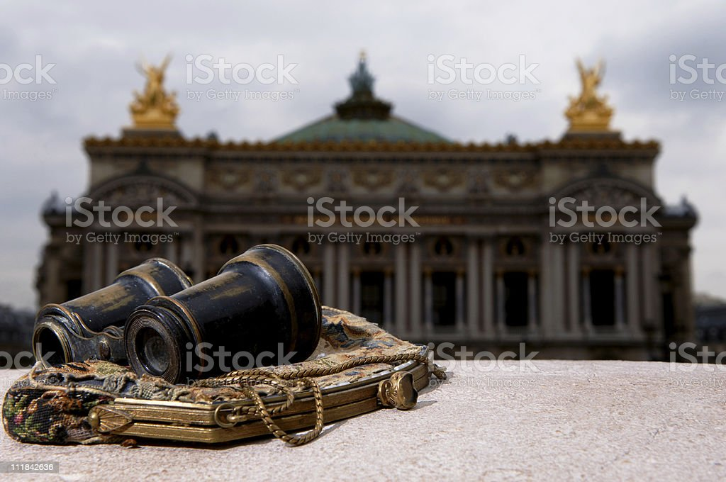 Opera Garnier with Glasses and Purse Paris France stock photo