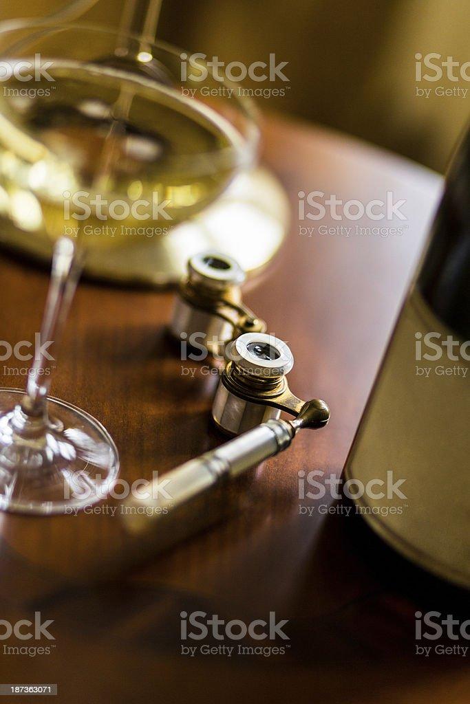 Opera Glasses On Desk royalty-free stock photo