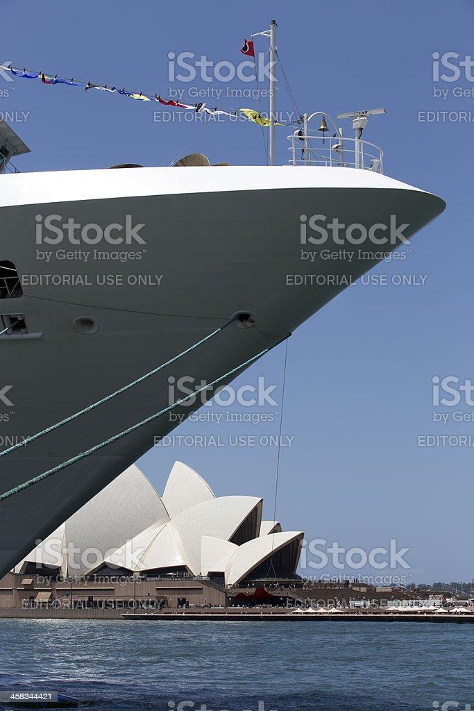 Opera House and ship royalty-free stock photo