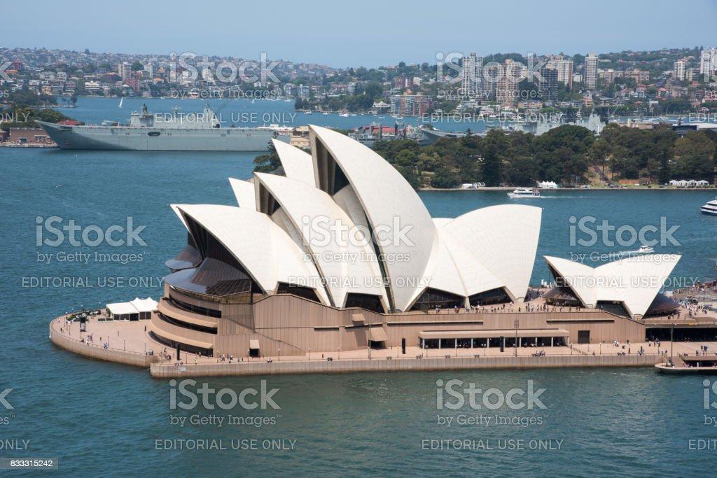 Opera House Architecture in Sydney stock photo