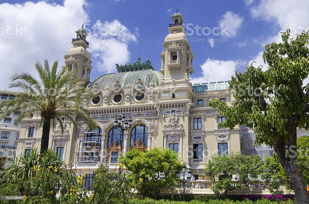 Opera House at Monaco stock photo