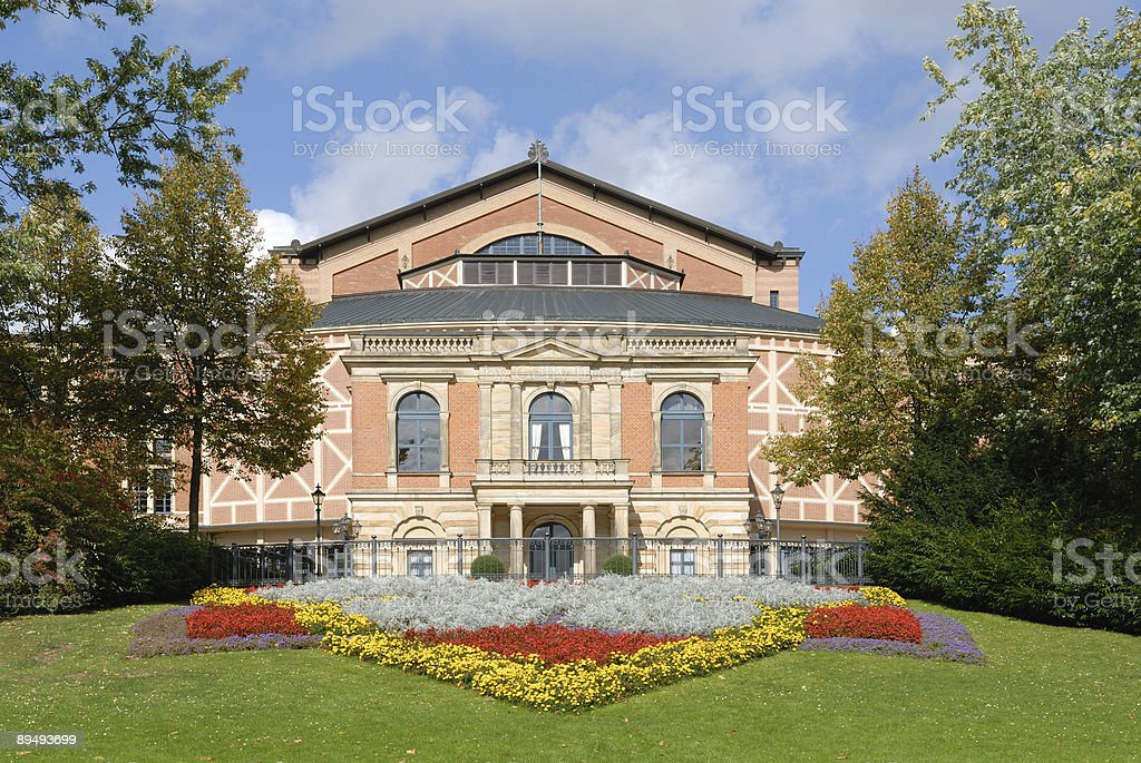 opera house Bayreuth Festspielhaus royalty-free stock photo