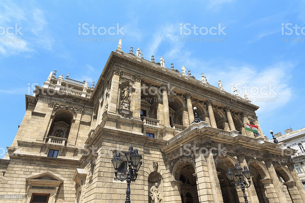 Opera House in Budapest royalty-free stock photo