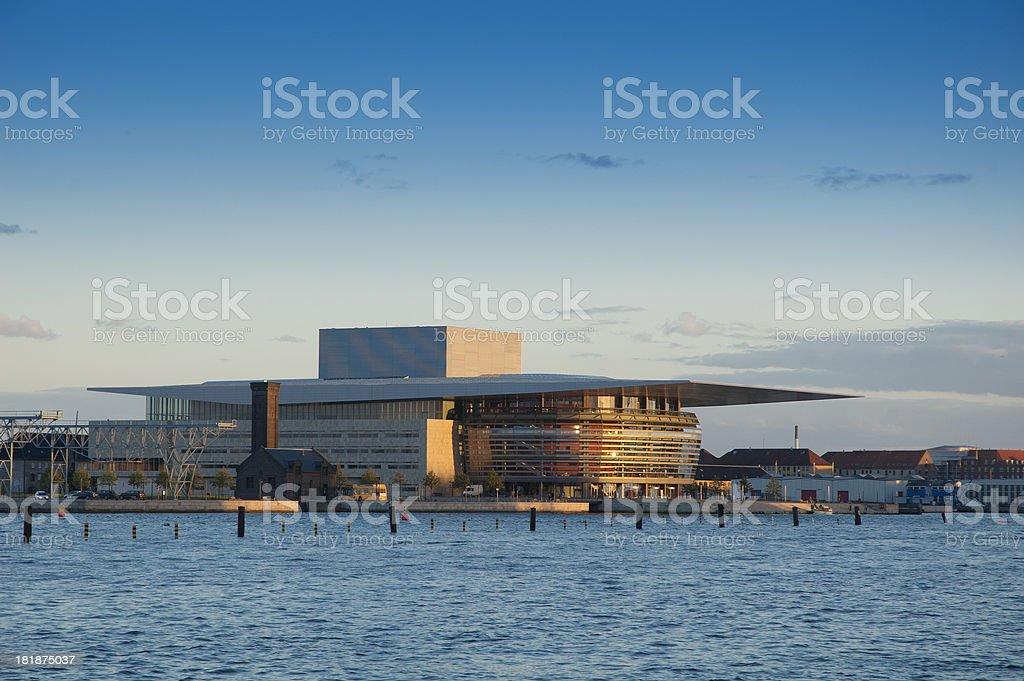 Opera House in Copenhagen at sunset royalty-free stock photo