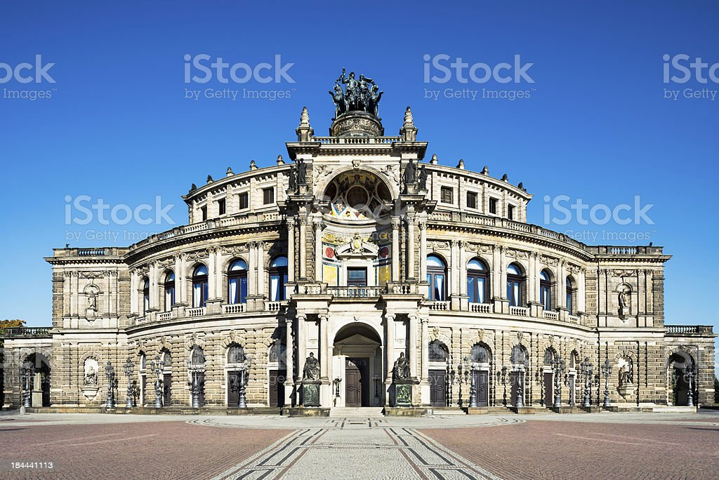 Opera house in Dresden stock photo