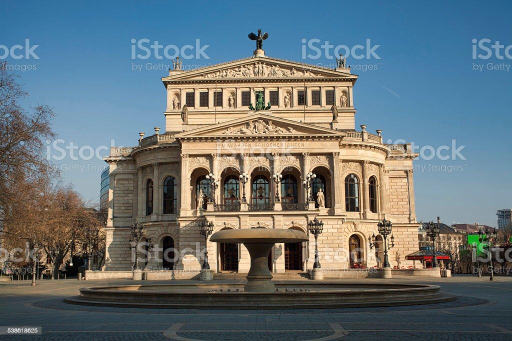 Opera House in Frankfurt stock photo