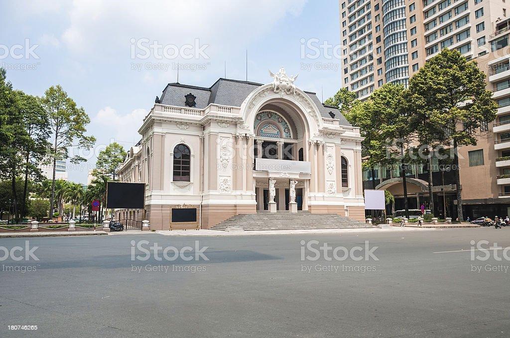 Opera House In Ho Chi Minh City, Vietnam stock photo