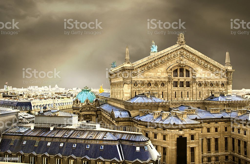 Opera house in Paris stock photo