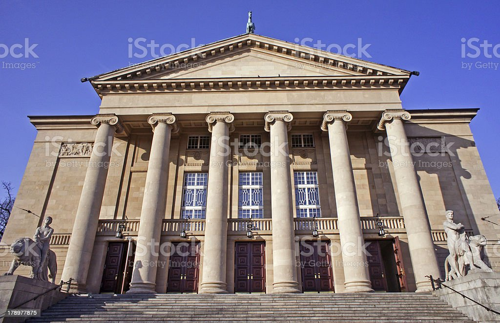 opera house in Poznan royalty-free stock photo