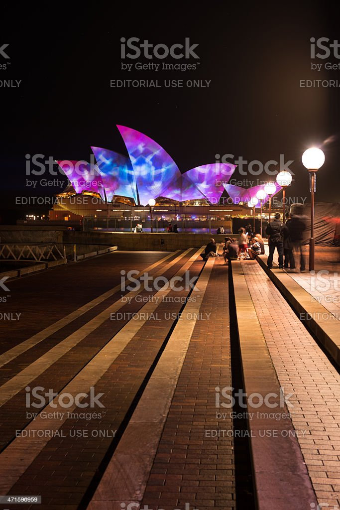 Opera house in Vivid Sydney festival 2013. stock photo