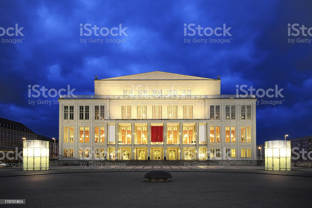 Opera house, Leipzig royalty-free stock photo