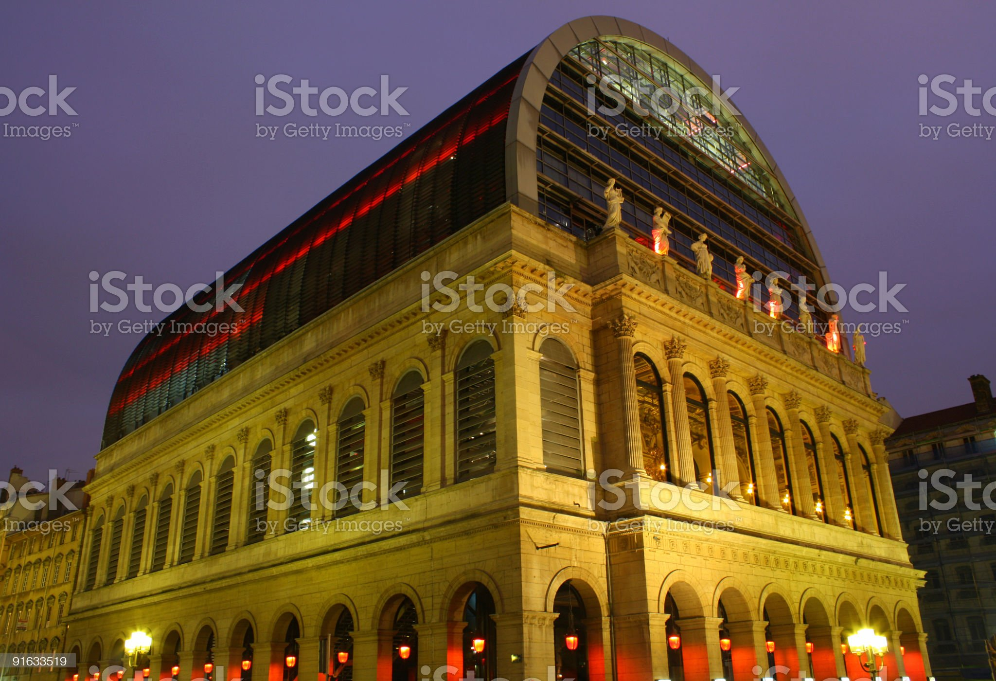 Opera House, Lyon, France royalty-free stock photo