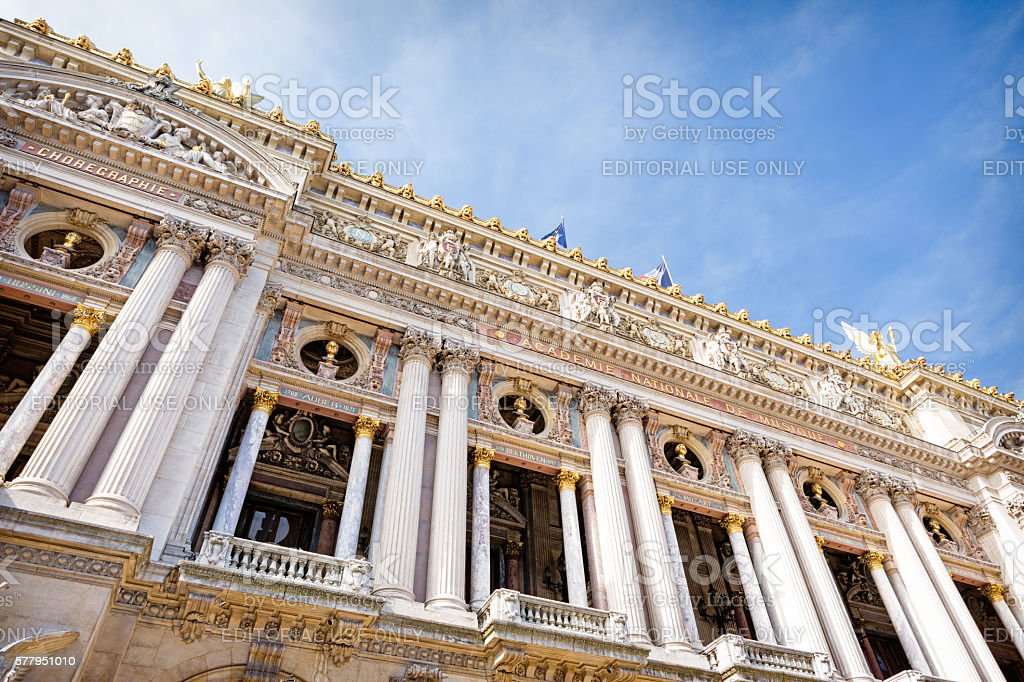 Opera house Palais Garnier, Paris, France stock photo
