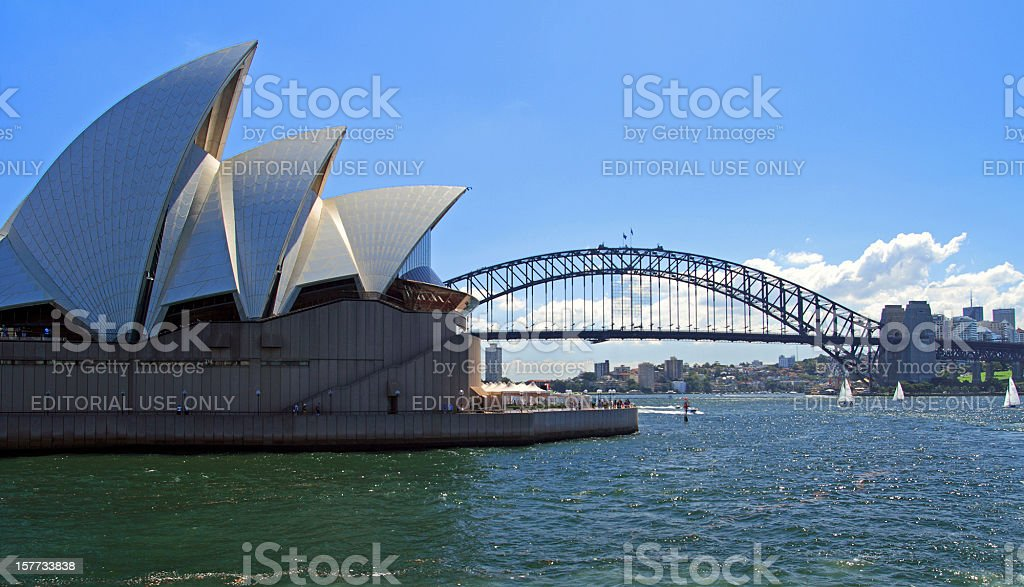 Opera House with Harbor Bridge royalty-free stock photo