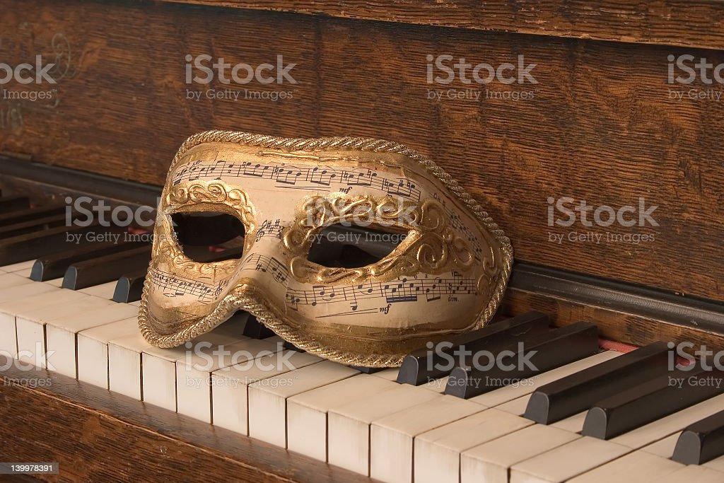 Opera Mask on Piano Keys_8095-1S stock photo