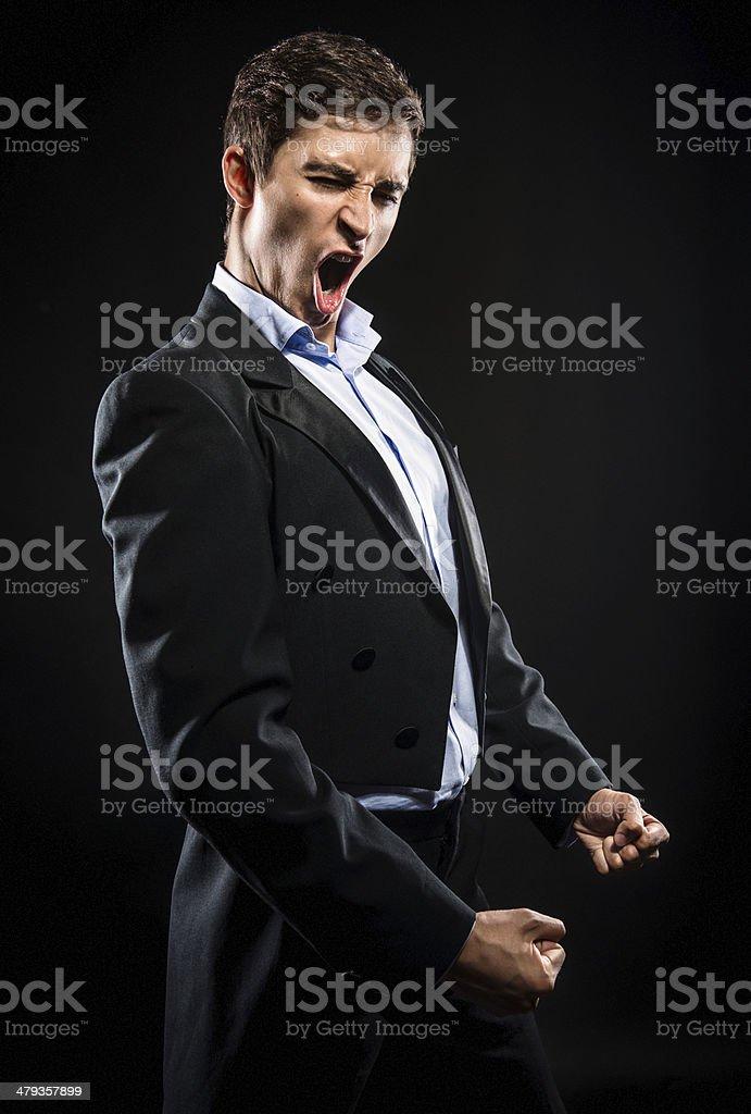 Opera singer stock photo