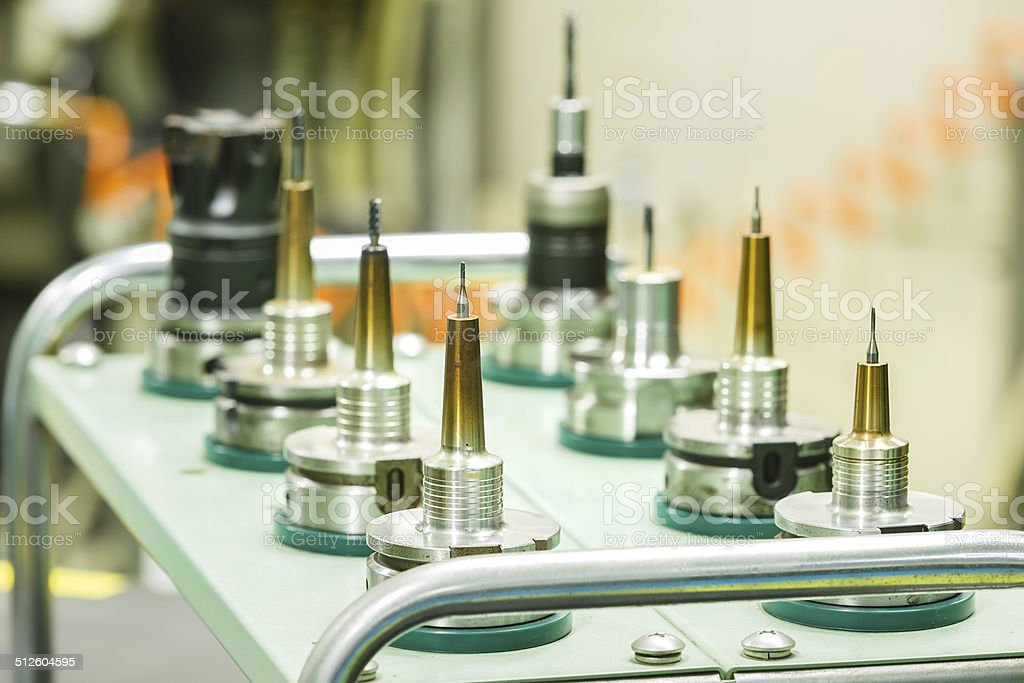 operater setup tool stock photo