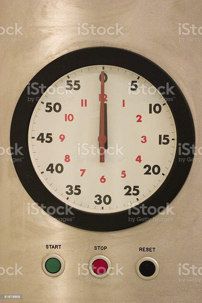 Operating clock royalty-free stock photo