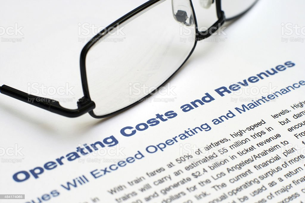 Operating costs and revenues royalty-free stock photo