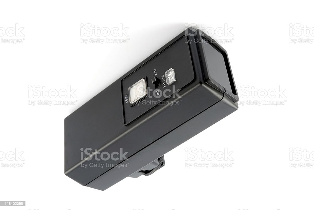 Operating flashlight stock photo