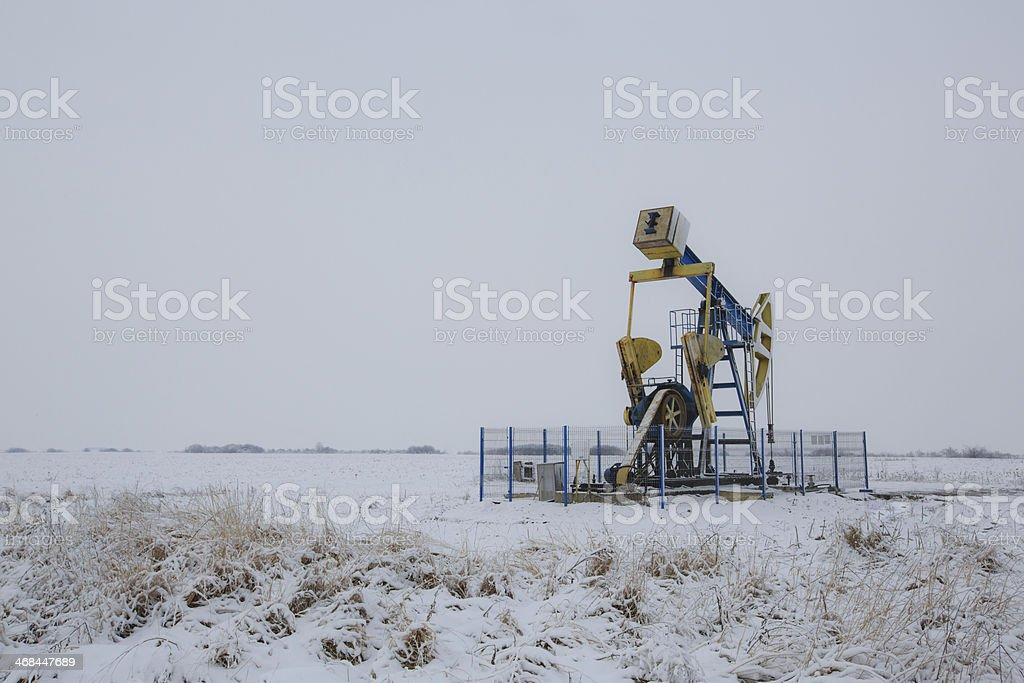 Operating oil and gas well royalty-free stock photo