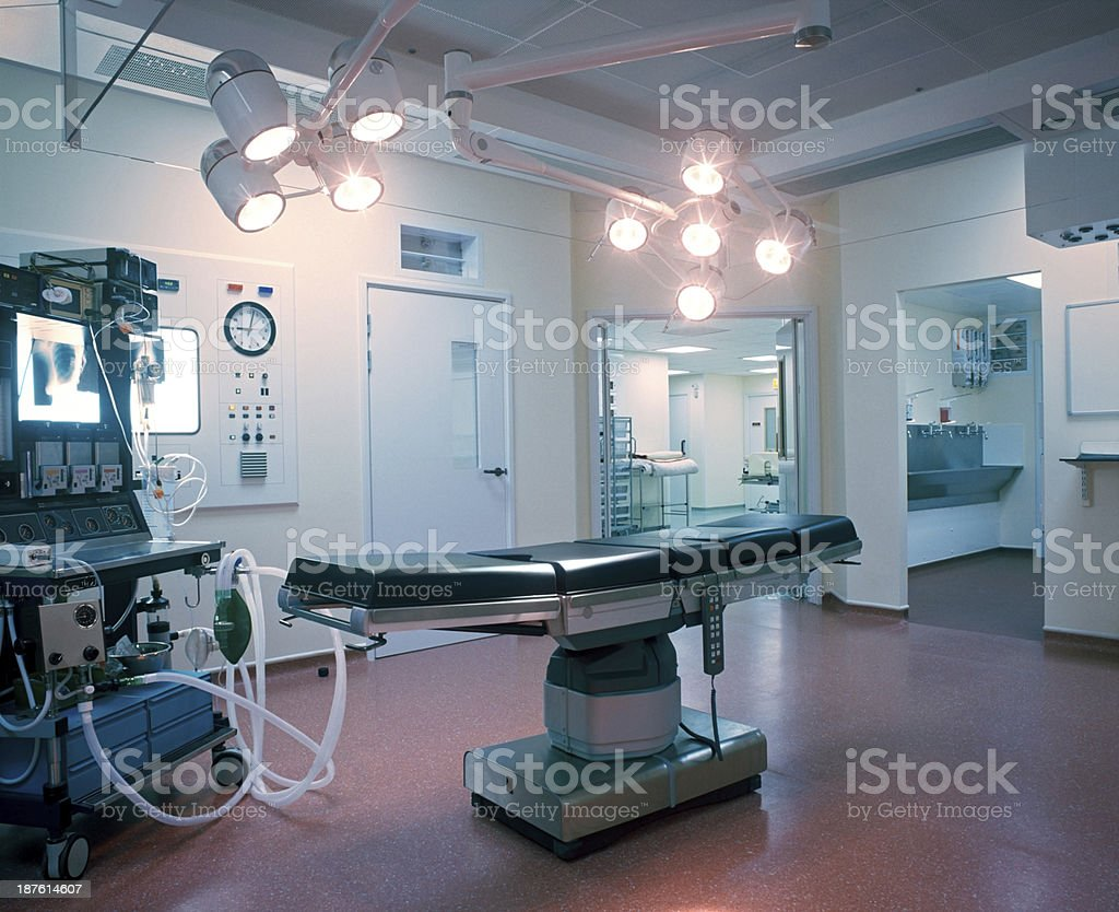 Operating room in a hospital stock photo