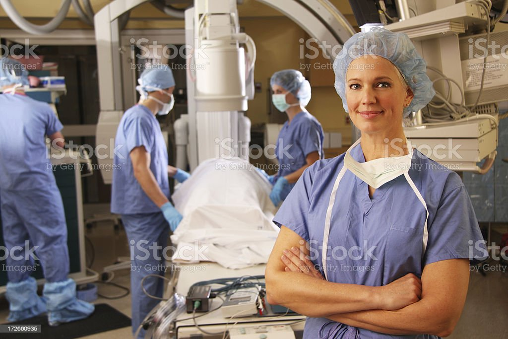 Operating Room Smile 2 royalty-free stock photo