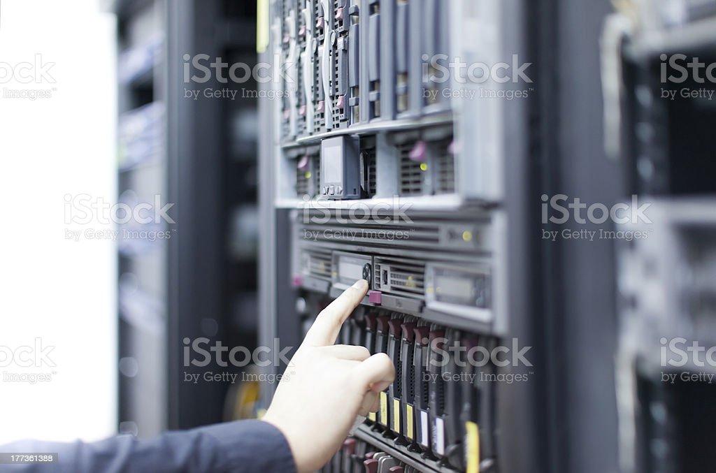 Operating Server royalty-free stock photo