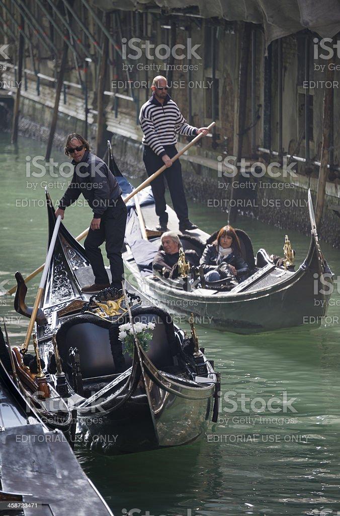 Operating the Gondola royalty-free stock photo