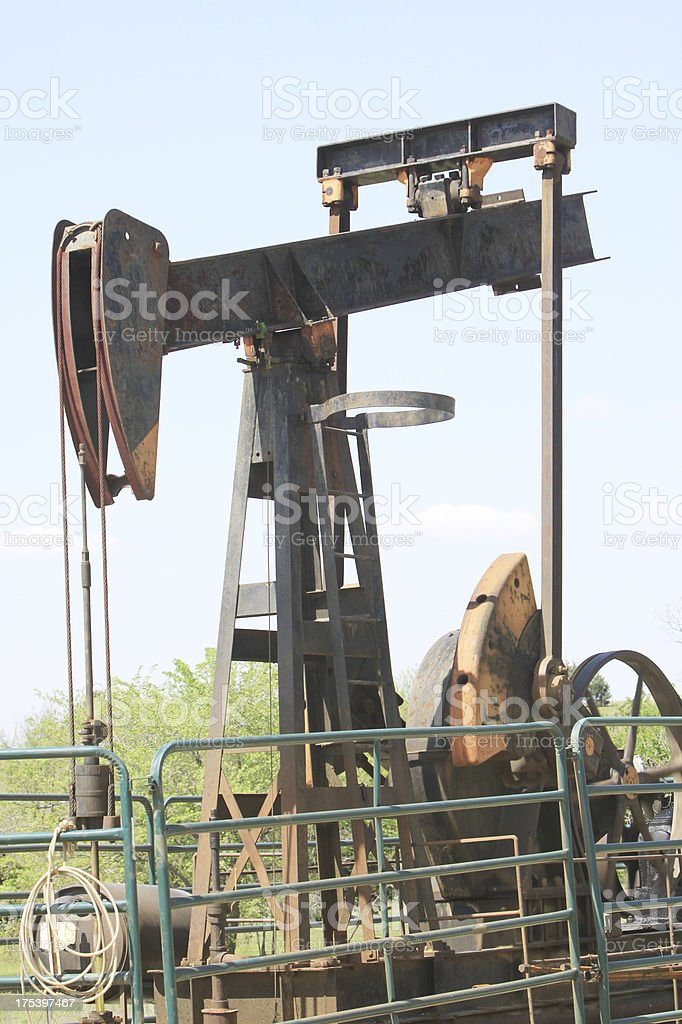 Operational Oil Well royalty-free stock photo