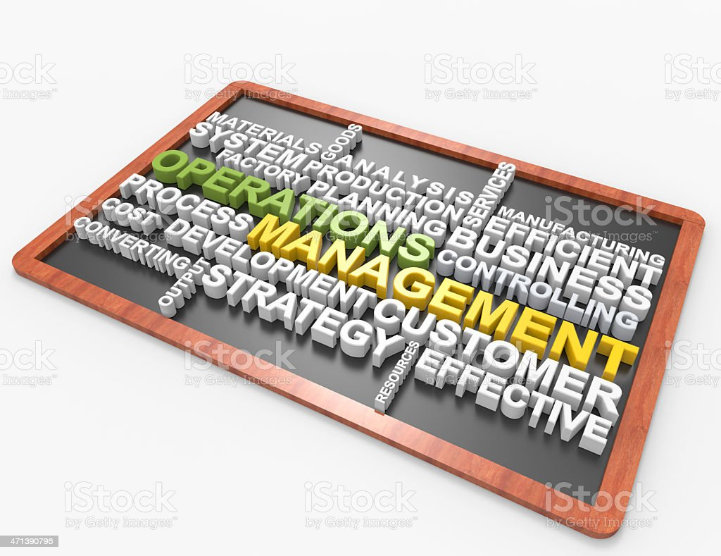 Operations Management wordclouds stock photo