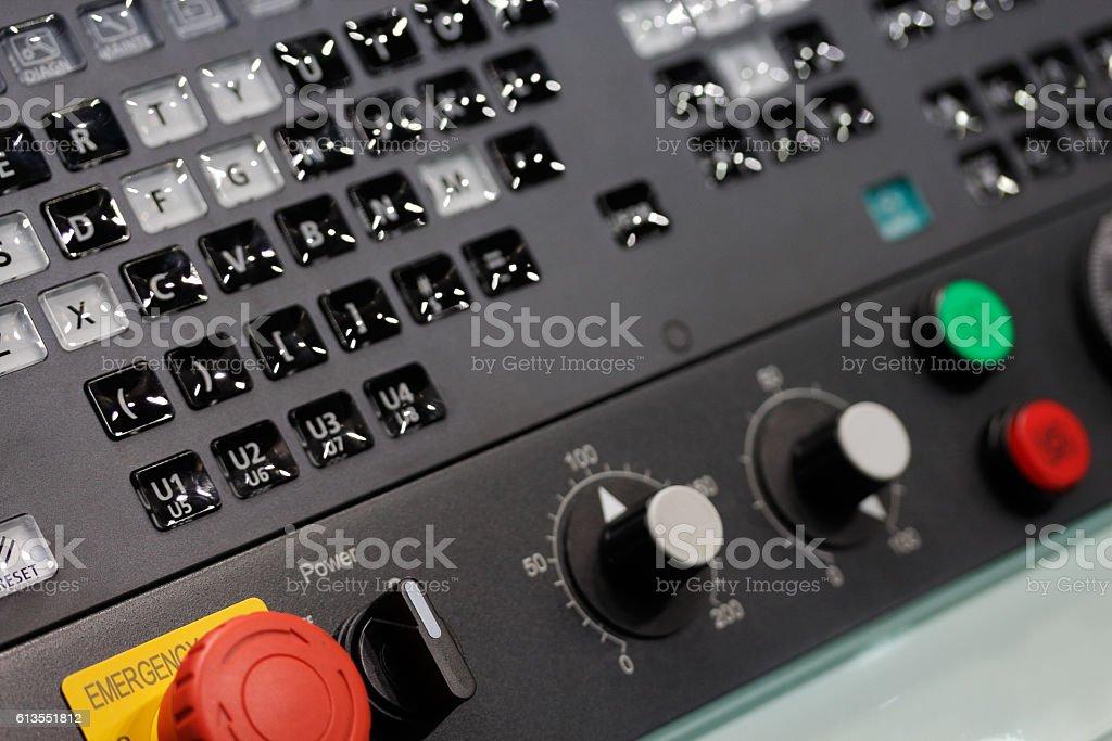 operator control panel stock photo