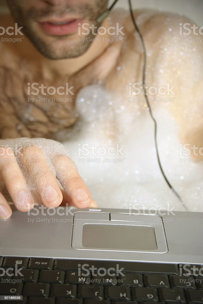operator in bath tub royalty-free stock photo