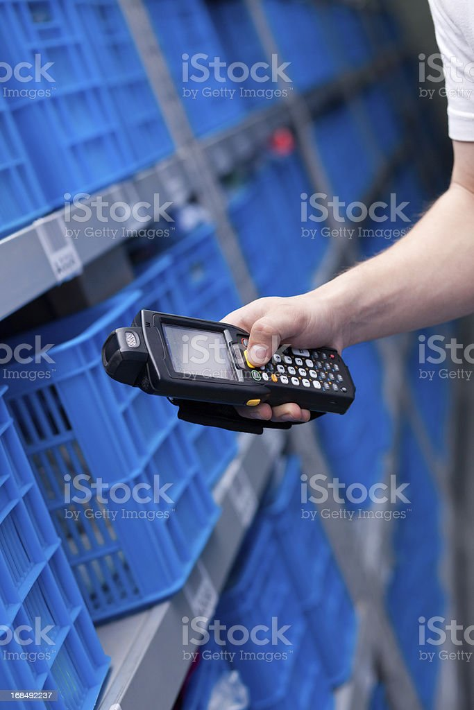 Operator in Warehouse stock photo