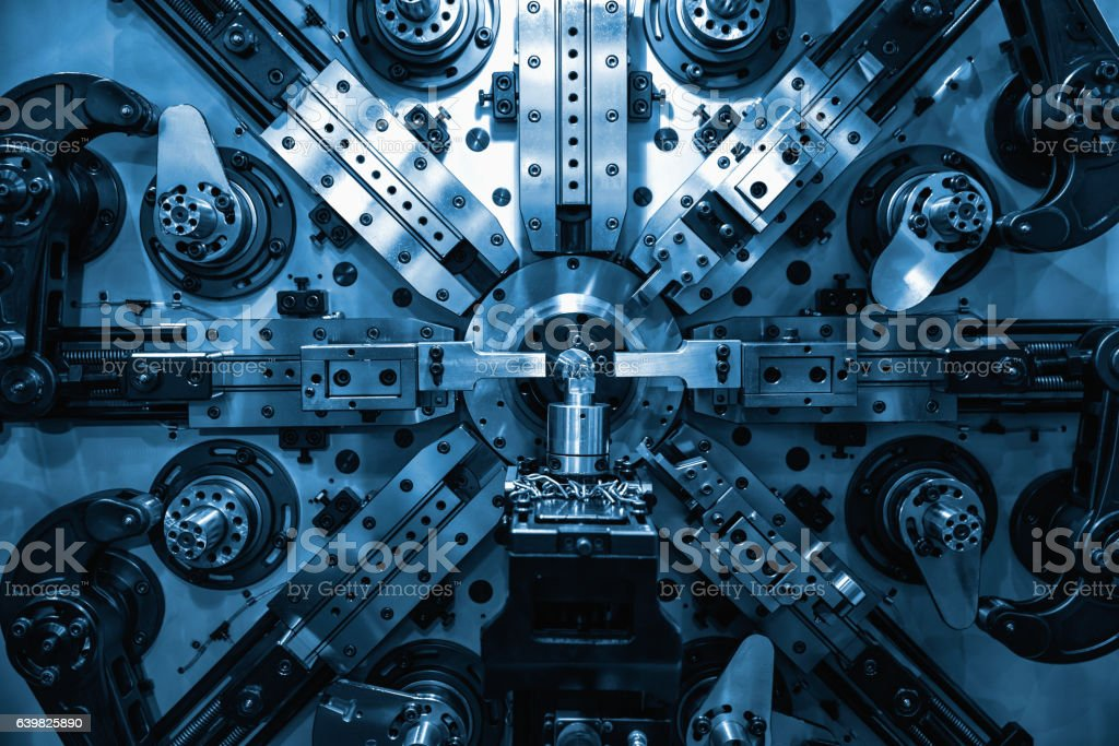 Operator machining automotive stock photo