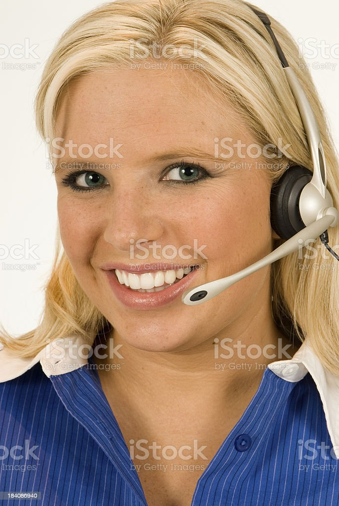 Operator with a Headset and Great Smile royalty-free stock photo