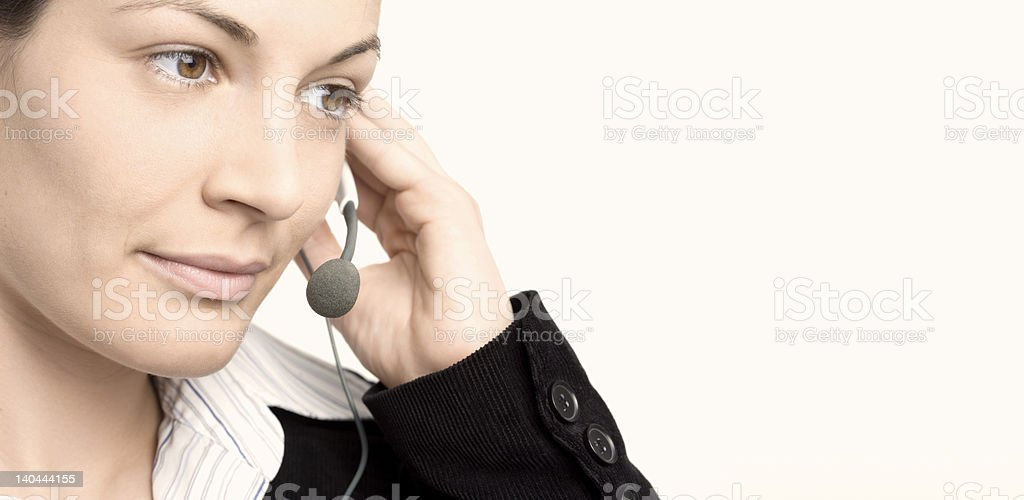 Operator with headset royalty-free stock photo