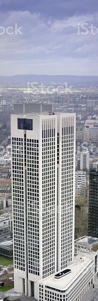 Opernturm (Opera Tower), Frankfurt, Germany, copy space stock photo