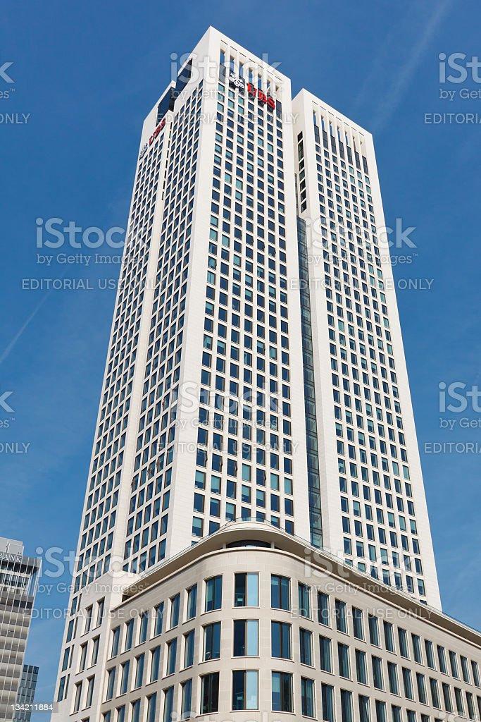 Opernturm Skyscraper in Frankfurt, Germany stock photo