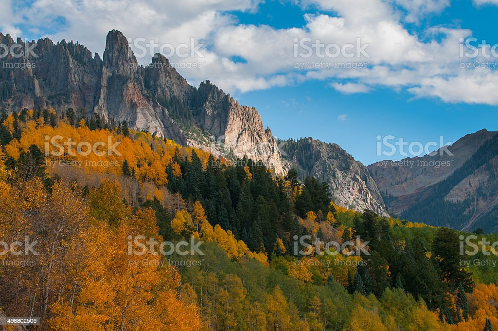Ophir Needles Fall Colors stock photo