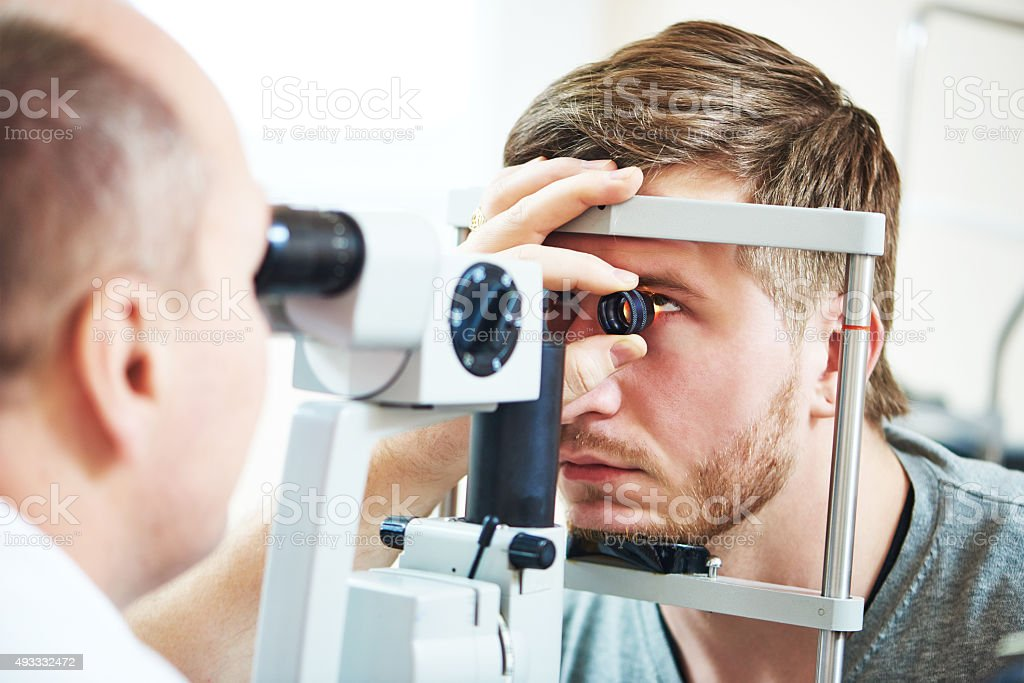 Ophthalmology eyesight examination stock photo