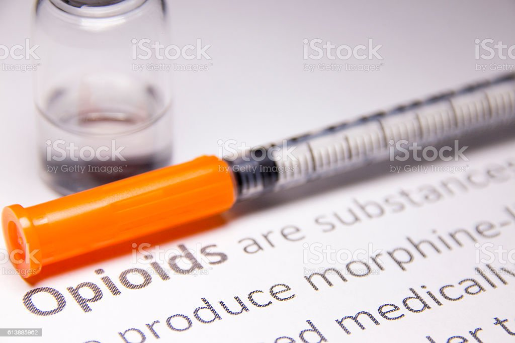 Opioid Narcotic stock photo