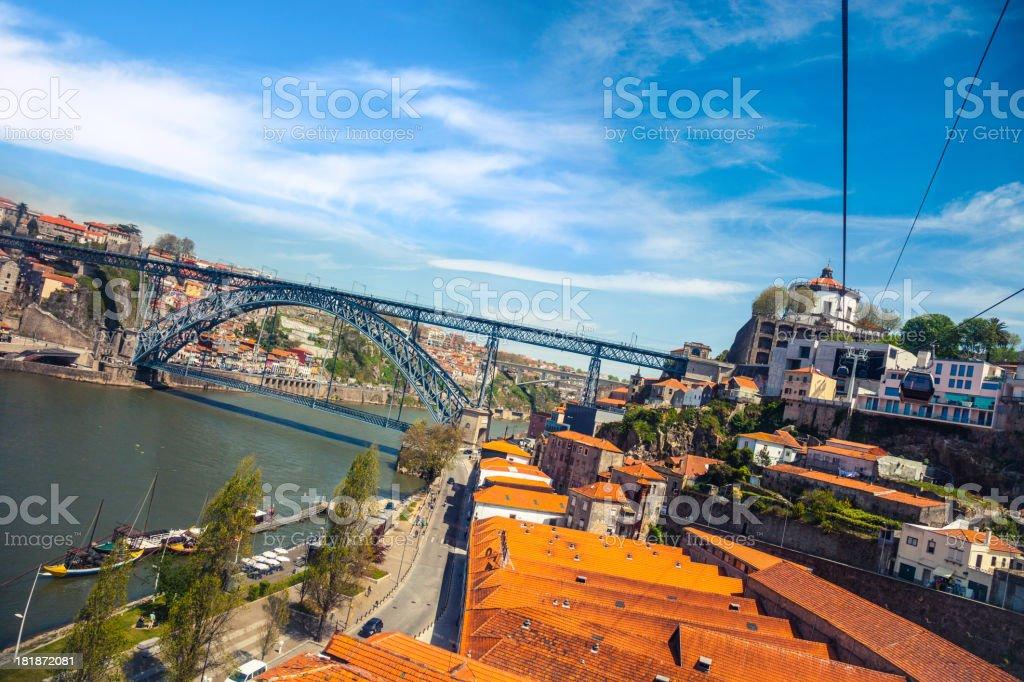 Oporto Aerial view stock photo