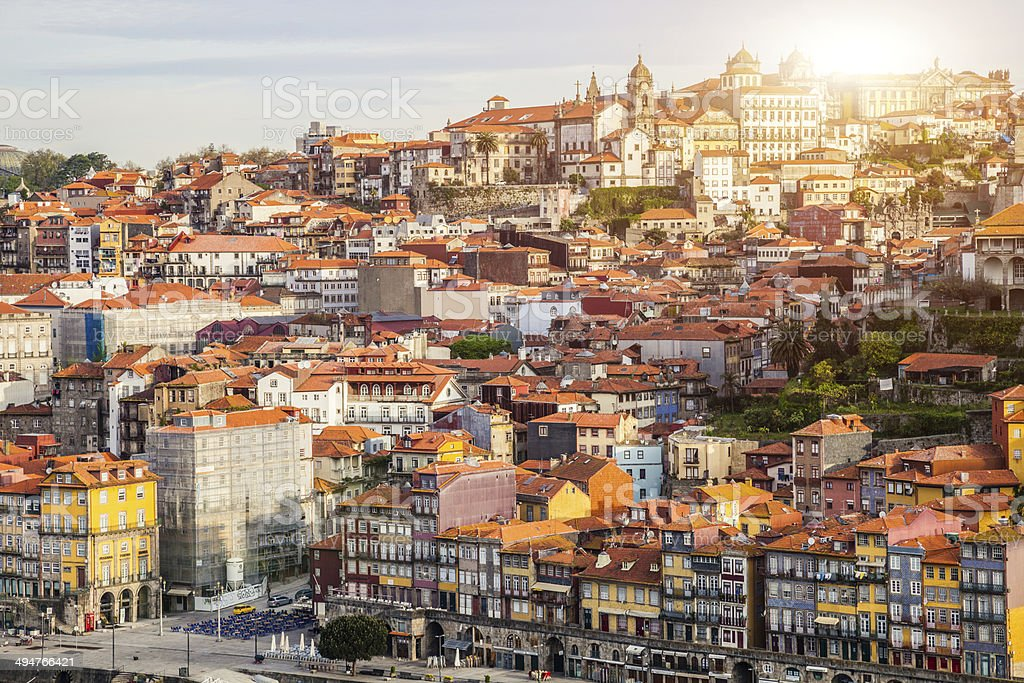 Oporto aerial view stock photo