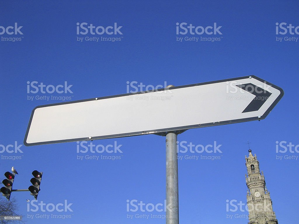 Oporto blank sign royalty-free stock photo