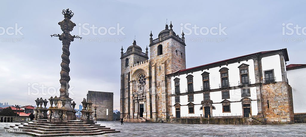 Oporto cathedral royalty-free stock photo
