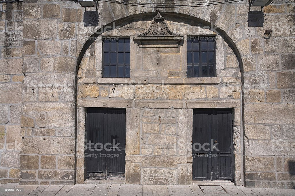 Oporto (Portugal) -Old Building in Historic Center, Called Ribei royalty-free stock photo