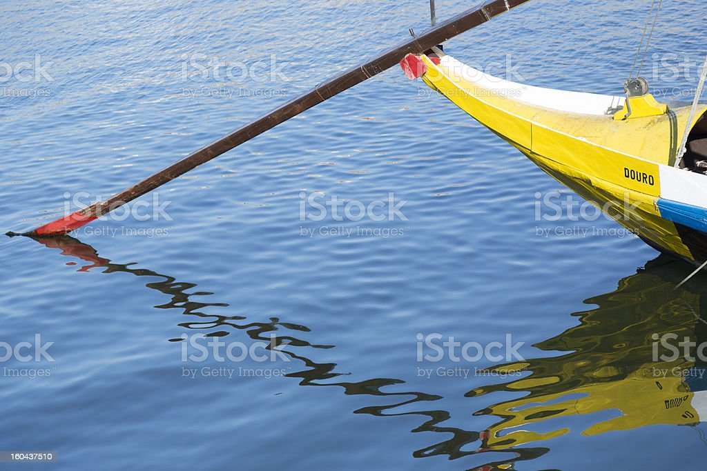Oporto Rabelo Boat On The Douro stock photo